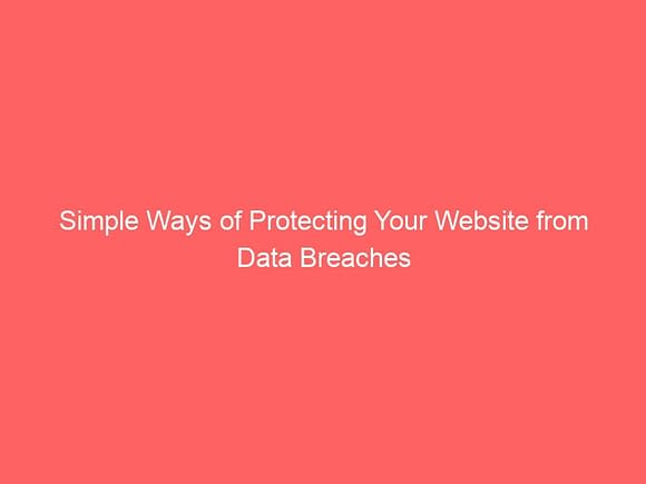 simple ways of protecting your website from data breaches 3919