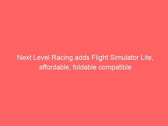 next level racing adds flight simulator lite affordable foldable compatible 3775